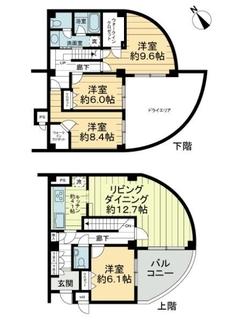 新横浜ビレッジヒルズの間取図