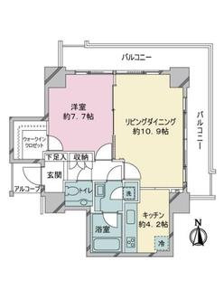 恵比寿ガーデンテラス壱番館の間取図