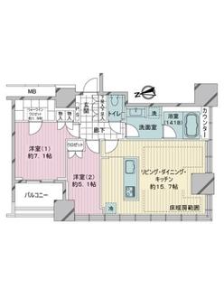 ローレルタワー ルネ浜松町の間取図