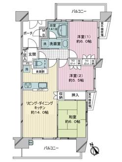 グランイーグル川崎5の間取図