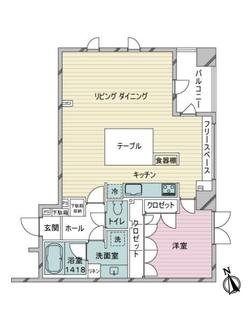 三田伊皿子坂ハウスの間取図