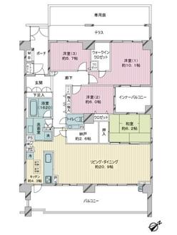 ヴェルデマーレコスモ横濱汐見台の間取図