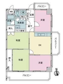 ライオンズマンション大濠第2の間取図