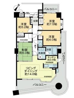 ライオンズステーションプラザ勝川壱番館の間取図