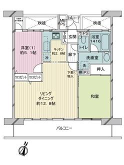 ライオンズマンション上戸田の間取図