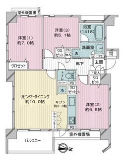 クリオ横浜鶴見の間取図