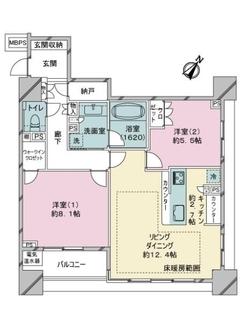 ライオンズシティ東京タイムズプレイスの間取図