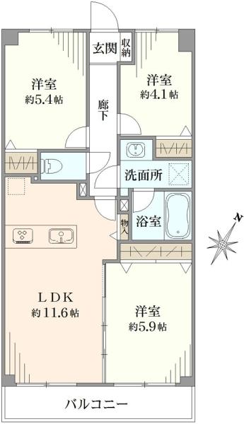 藤和ライブタウン松戸上本郷の間取図