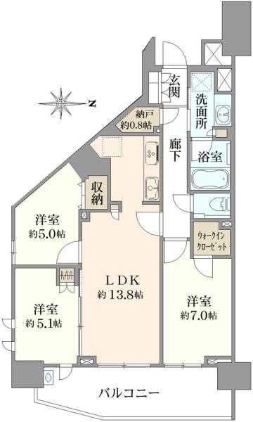 プラウドシティ加賀学園通りの間取図