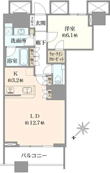 THE TOKYO TOWERSSEA TOWERの間取図
