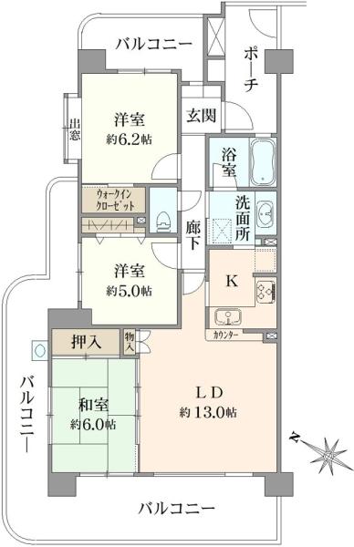 ダイアパレスパークサイド藤沢の間取図