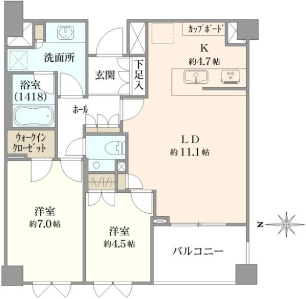パークコート渋谷大山町 ザ・プラネ翠邸の間取図