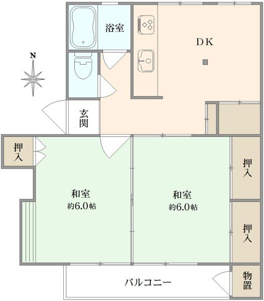 多摩川住宅ハ-18の間取図
