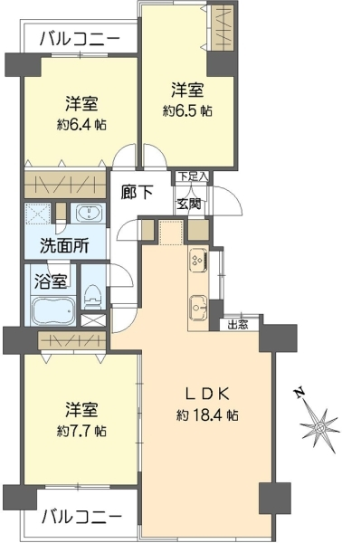 日吉ロイヤルマンションの間取図