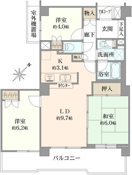 横浜六浦パークホームズの間取図