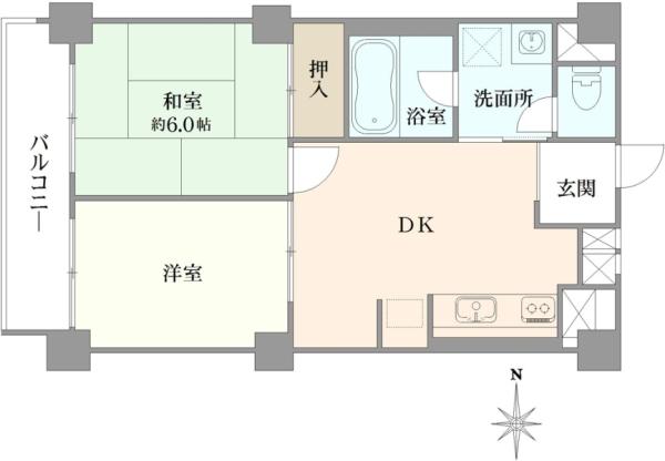 小田急高井戸マンションの間取図