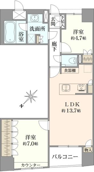 プロスタイル日本橋馬喰町の間取図
