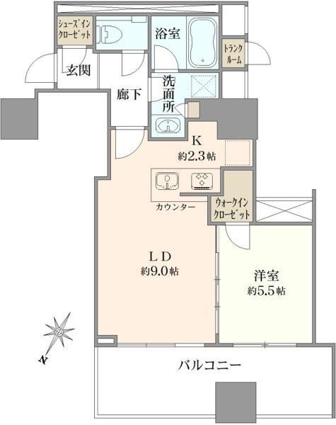シティタワー大井町の間取図