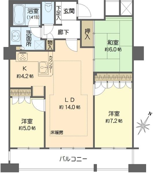N4.TOWERの間取図