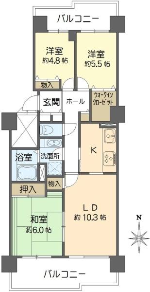 桜宮リバーシティ・NAC2号棟の間取図