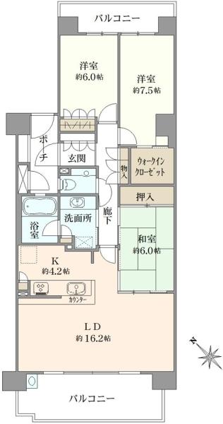 東京サーハウス リバーポートの間取図