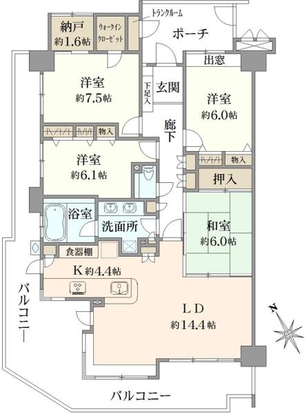 ラムーナ横浜戸塚パークリッジの間取図