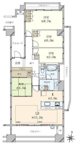 夙川香櫨園コートハウスガーデンコートの間取図