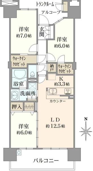 東京フロンティアシティパークパークスの間取図