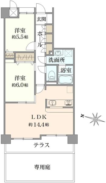 ハイホーム中浦和の間取図