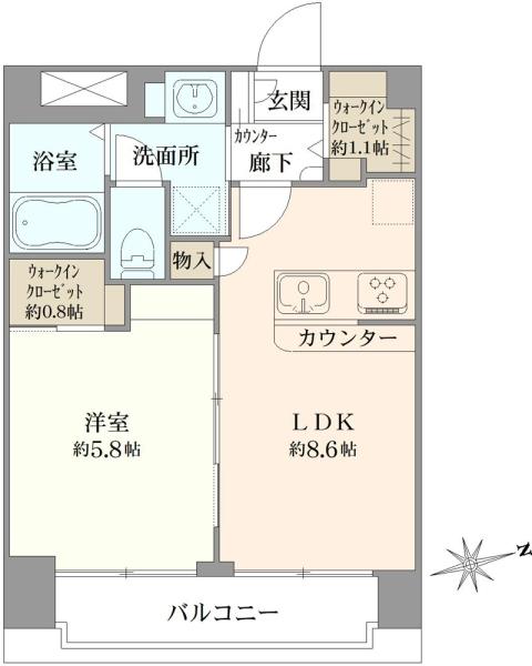 セブンスターマンション第5五反田の間取図