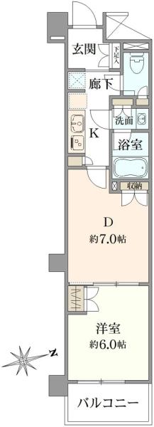 パレステージ文京江戸川橋の間取図