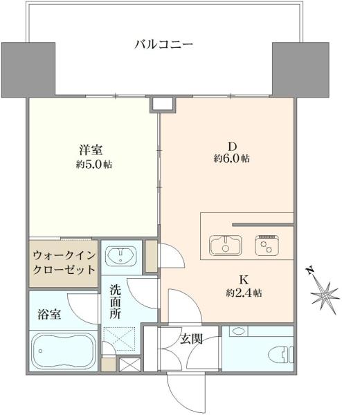 ザ・パークハウス渋谷美竹の間取図