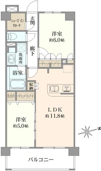 パレステージ青井ナチュラコートの間取図