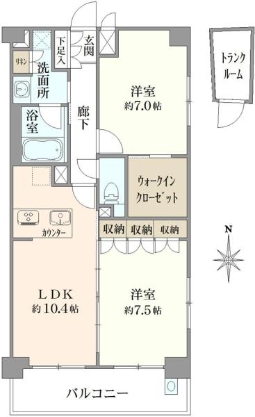 エステムプラザ京都三条大橋の間取図