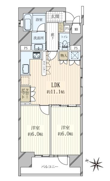 リーガル神戸三宮フラワーロードの間取図
