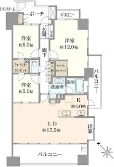ヴィスタテラス武蔵浦和タワーレジデンスタワー棟の間取図