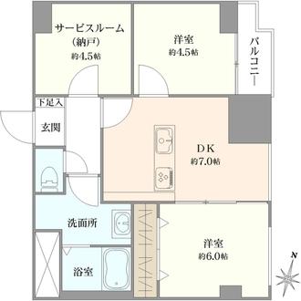 ライオンズマンション浦和常盤公園の間取図