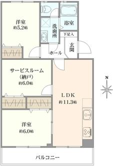 北浦和住宅4号棟の間取図