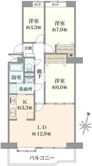 エクセル北浦和C棟の間取図