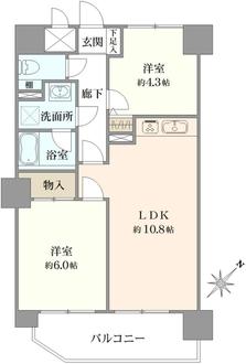 ライオンズマンション浦和・県庁前の間取図