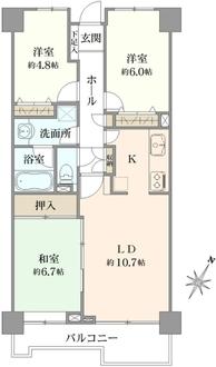 ローヤルシティ武蔵浦和の間取図