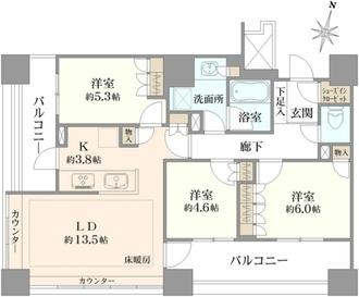 大宮ファーストプレイスタワーの間取図