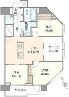 東中野ハイムの間取図
