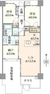 レクセル北戸田の間取図
