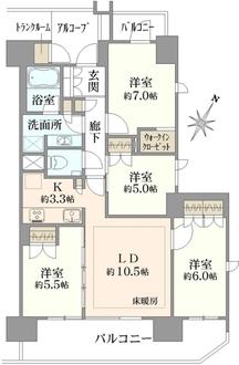 ザ・パークハウス浦和東仲町の間取図