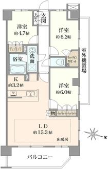 コージーコート浦和の間取図