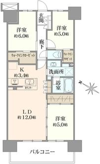 ファインシティ東松戸モールレジデンスの間取図