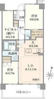 アデニウム篠崎の間取図