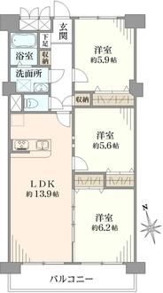 新松戸ユーカリパークハウスC棟の間取図