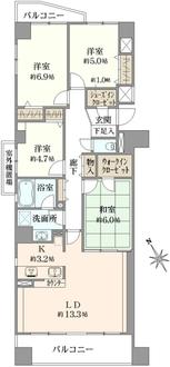 ニューイーストタワー船橋本町の間取図